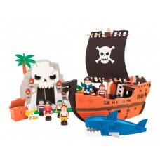 Конструктор Bebox Приключения пиратов 124 детали