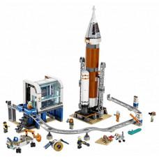 Конструктор Lego City Space Port Ракета для запуска в далекий космос и пульт управления запуском