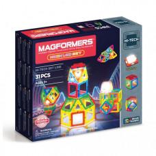 Конструктор Magformers Магнитный Neon Led set