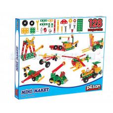 Конструктор Pilsan модельный Mini Maket 128 деталей