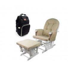 Кресло для мамы Forest Agostina с сумкой-рюкзаком для мамы Tarde