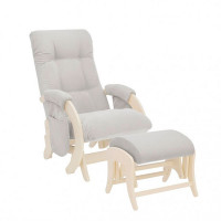 Кресло для мамы Milli с карманами Smile с пуфом Uni Дуб шампань