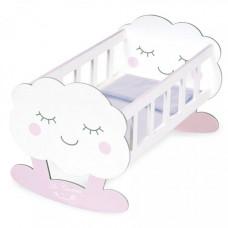 Кроватка для куклы DeCuevas качалка с аксессуарами Мартин, 49 см