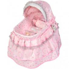 Кроватка для куклы DeCuevas с козырьком Мария 46 см 51134