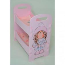Кроватка для куклы Коняша Двухъярусная Косичка