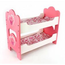 Кроватка для куклы Mary Poppins Корона деревянная двухспальная