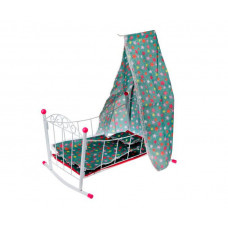Кроватка для куклы Наша Игрушка люлька с балдахином Салют