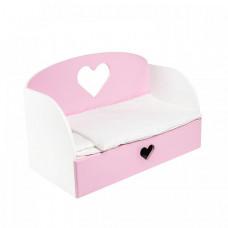 Кроватка для куклы Paremo диван Сердце Мини