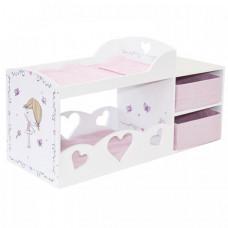 Кроватка для куклы Paremo двухярусная с системой хранения Пьемонт Альбертина Мини