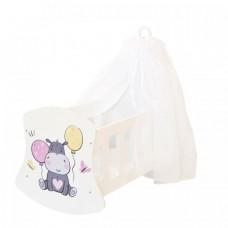 Кроватка для куклы Paremo люлька с балдахином Мимими Крошка Дори