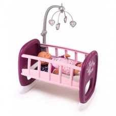 Кроватка для куклы Smoby Baby Nurse Колыбель для пупса с мобилем 220343