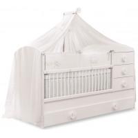 Кроватка-трансформер Cilek Baby Cotton 131х80/177х80 см