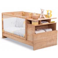 Кроватка-трансформер Cilek с полками Mocha Baby 110х70/140х70 см