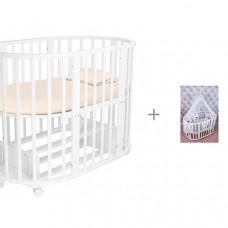 Кроватка-трансформер Forest Lavatera 6 в 1 (маятник поперечный) и Комплект AmaroBaby Good Night
