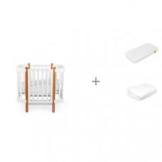 Кроватка-трансформер Happy Baby Mommy Lux с матрасом 140х70 см и одеялом 140х110 см