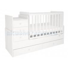 Кроватка-трансформер Polini Simple 1100 с комодом