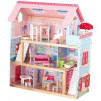 """Кукольный домик """"Открытый коттедж"""" (Chelsea), с мебелью 19 элементов"""