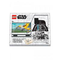 Lego Star Wars Книга для записей с ручкой и минифигурой Naboo Starfighter
