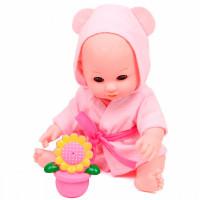 Lisa Jane Кукла-Пупс в розовом халатике с аксессуарами и звуками 30 см