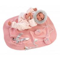 Llorens Кукла младенец в розовом c одеяльцем 35 см