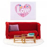 Lundby Кукольная мебель Смоланд Гостиная в красных тонах
