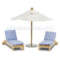 Lundby Мебель Стокгольм Лежаки с зонтиком от солнца