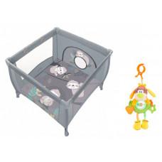 Манеж Baby Design Play Up и подвесная игрушка Жирафики Веселый щенок