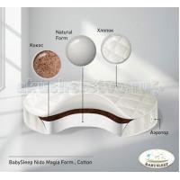 Матрас Babysleep Form Cotton в колыбель 75x75 см