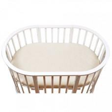 Матрас BamBola для овальной кроватки Oval Holo + Kokos 8 Микрофибра 125х75х8 см