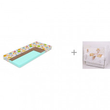 Матрас Sleepy Тигренок Print 120х60х10 с комплектом в кроватку Топотушки Лучик (6 предметов)