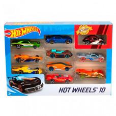 Mattel Hot Wheels Набор из 10 машинок