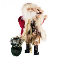 Maxitoys Дед Мороз с зеленым мешком 46 см