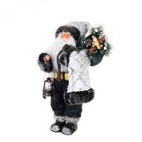 Maxitoys Дед Мороз в белой шубе с фонариком 45 см