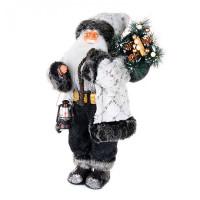 Maxitoys Дед Мороз в белой шубе с фонариком 61 см