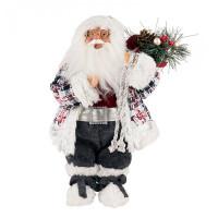 Maxitoys Дед Мороз в клетчатом кафтане 32 см