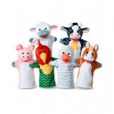 Melissa & Doug Плюшевые куклы на руку Животные с фермы