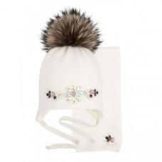 Mialt Комплект Небо в алмазах (шапка и шарф)