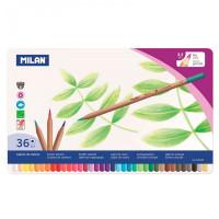 Milan Карандаши цветные шестигранные 36 цветов в металлической упаковке 0726136