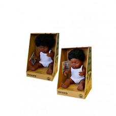 Miniland Набор кукол Близнецы мальчик и девочка африканцы 38 см