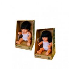 Miniland Набор кукол Близнецы мальчик и девочка азиаты 38 см