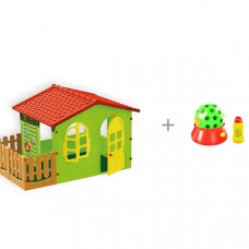 Mochtoys Игровой домик с забором с установкой HTI с автоматическим пусканием мыльных пузырей Диско-шар