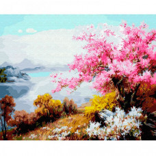 Molly Картина по номерам Цветение сакуры 40х50 см KH0640