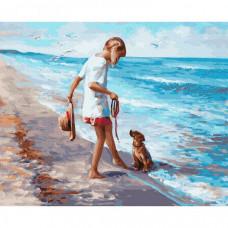 Molly Картина по номерам Ласковое море 40х50 см
