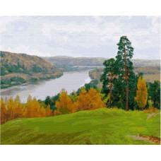 Molly Картина по номерам Осень на Оке 50х40 см