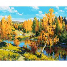 Molly Картина по номерам Прищепа. Золотая осень 40х50 см