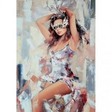 Molly Картина по номерам с цветной схемой на холсте Перед карнавалом 40х30 см