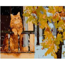 Molly Картина по номерам с цветной схемой на холсте Последний день осени 40х30 см