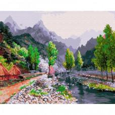 Molly Картина по номерам Сунг Ли. Весна в горах 40х50 см