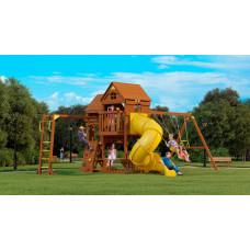 MoyDvor Детская площадка Панорама с трубой и рукоходом
