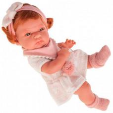 Munecas Antonio Juan Кукла Альберта в розовом 33 см